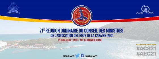 La AEC convoca la XXI Reunión Ordinaria del Consejo de Ministros en Haití