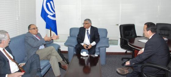 Secretario General de la AEC se reúne con representantes de INEGI y AMEXCID