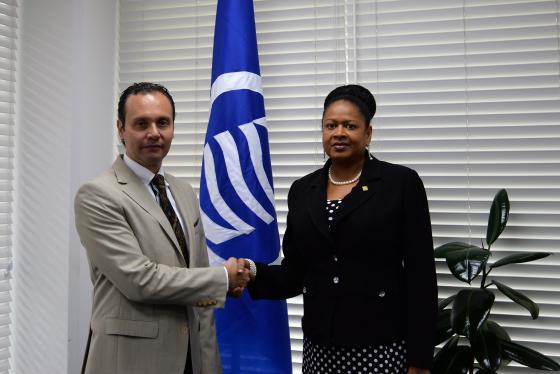 La Secretaria General recibe una visita de cortesia del Embajador de Mexico