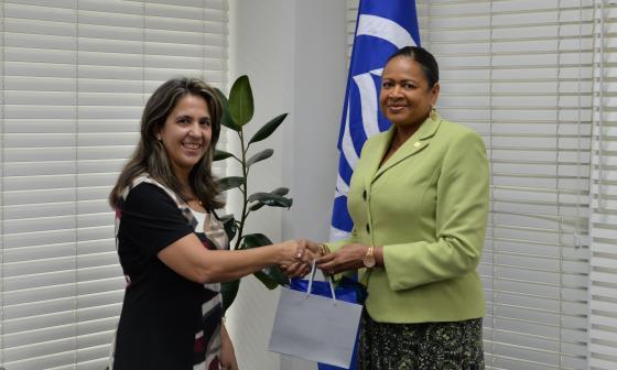 Secretaria recibe visita de la nueva Embajadora de Cuba