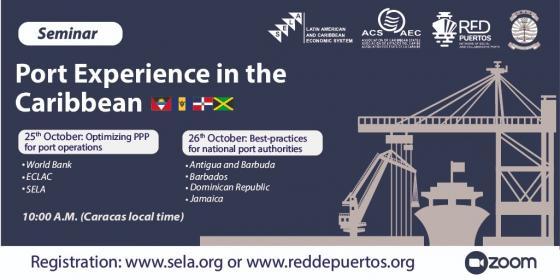 La AEC, el SELA y la Asociación de Gestión Portuaria del Caribe organizarán un seminario