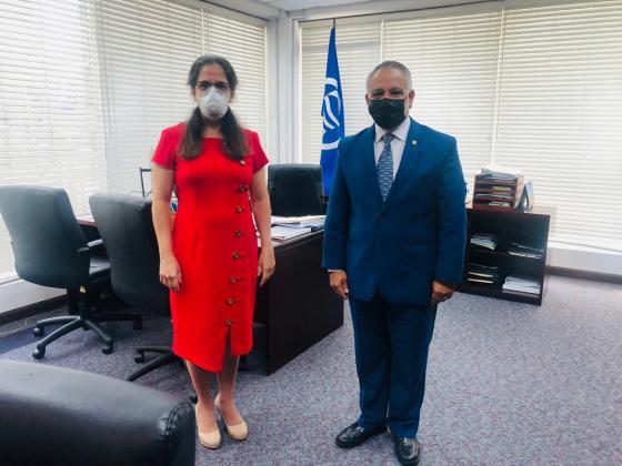 Embajadora cubana se reúne con Secretario General