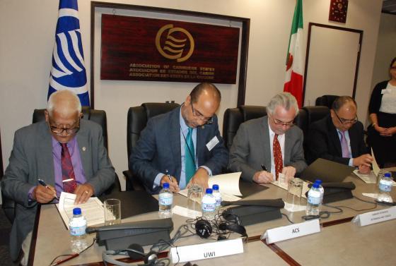 Signature d'un MoU entre l'AEC et l'UWI