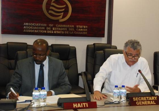 Réunion de travail avec Haitï, Président du Conseil des Ministres