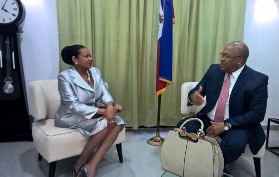 La Secrétaire Générale en visite officielle à la République d'Haïti