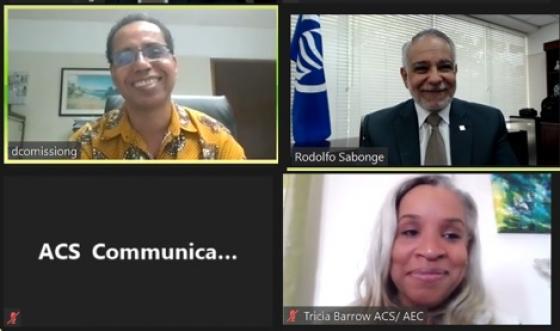 SG Sabonge Meets with Barbados Ambassador to CARICOM & ACS