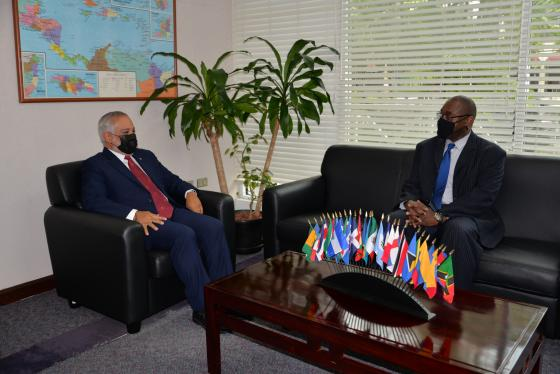 SG Meets with US Chargé d'affaires in T&T