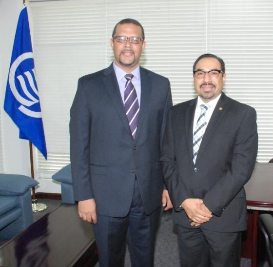Chargé d'affaires of the ACS receives a courtesy visit