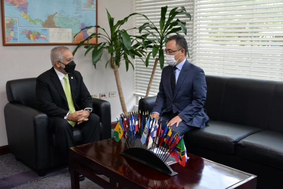 New Korean Ambassador Pays Courtesy Call to SG Sabonge