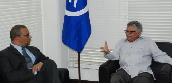 Secretary General of the ACS receives a courtesy visit from the High Commissioner of Jamaica