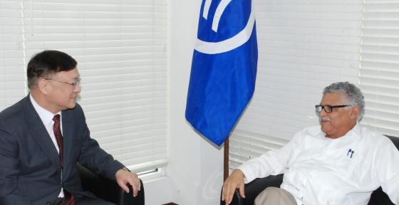 Secretary General of the ACS receives a courtesy visit from the Ambassador of Korea