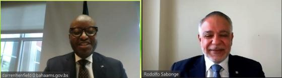 SG Sabonge Meets with Bahamian Foreign Minister